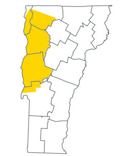Greater Chittenden county map
