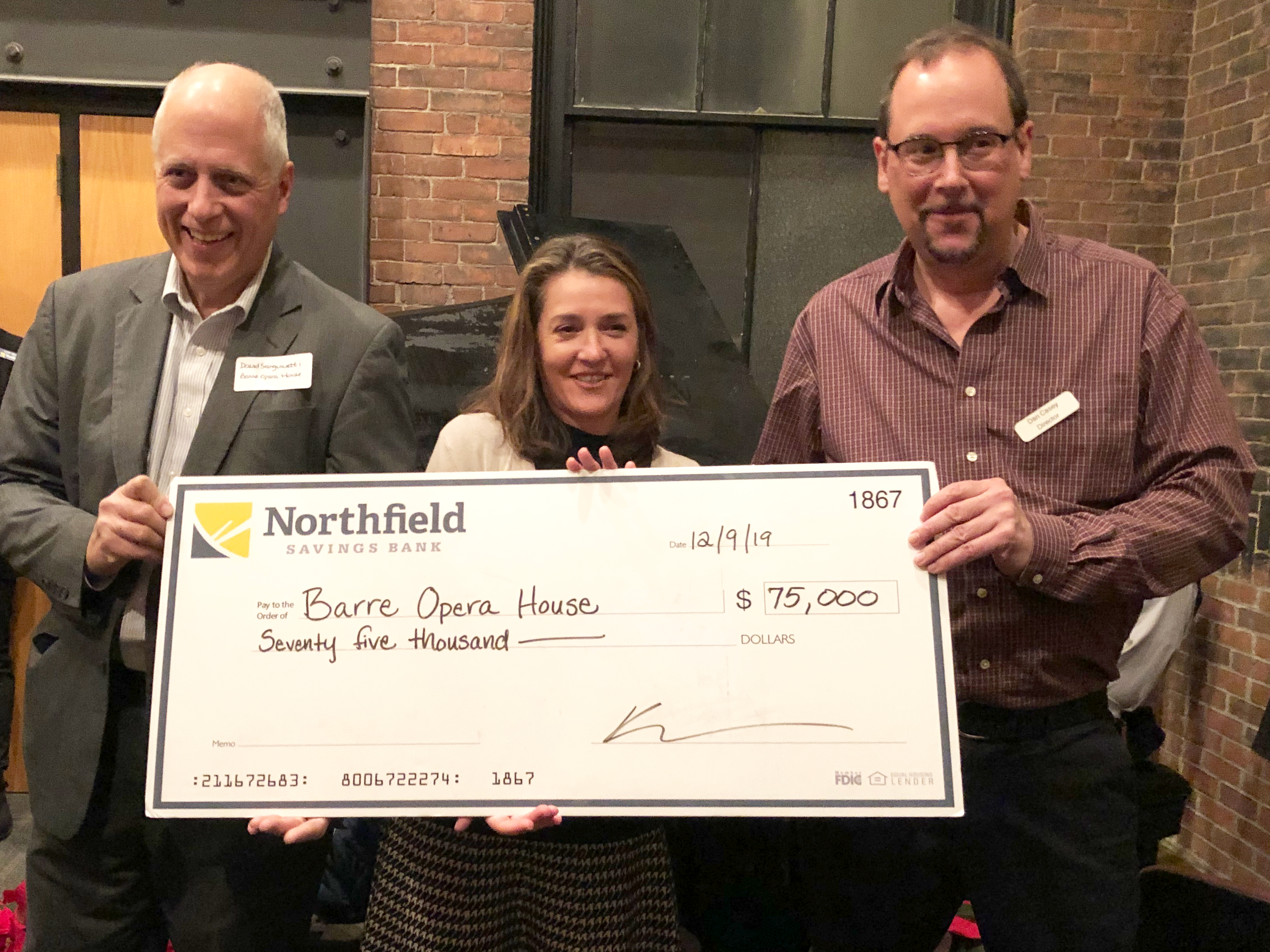 NSB supports Barre Opera House with $75,000 gift