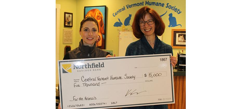 NSB Supports Central Vermont Humane Society | Northfield